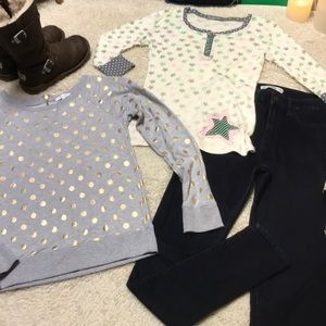 Hollister jeans & Delia's tops! Bundle!